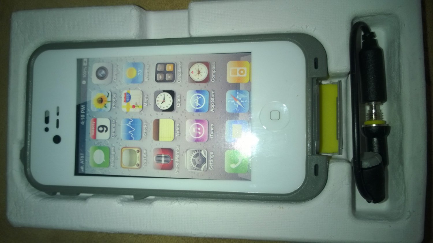 Waterproof Cases White for Apple iPhone 4/4s