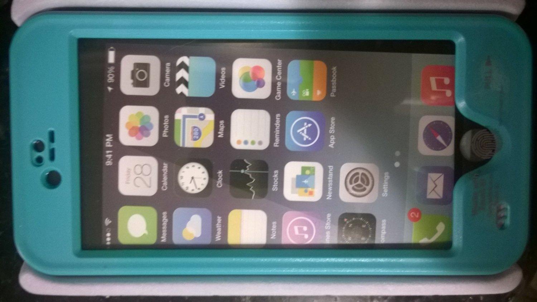 """Teal Apple Iphone 6 4.7"""" Waterproof/Shock Proof Case"""