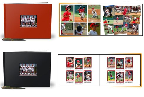 Team Photo Book - Red Leather Cover