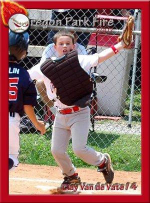 Baseball Card Magnet