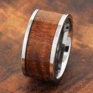 12mm Tungsten Koa Wood Inlaid Ring
