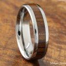 Tungsten Koa Wood Inlaid Wedding Ring 6mm
