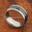 8mm Tungsten BLK Ceramic Spinning Ring Facete TUR5034