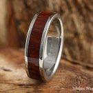 6mm Titanium Cocobolo Inlaid Wedding Ring TIR4022