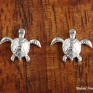 SE51501 Solid Sterling Silver Hawaiian Swimming Turtle Earring