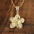GP3149 Yellow Gold Plumeria Pendant 16mm(Chain Sold Separately)