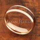 6mm Koa Wood Stainless Steel Wedding Ring Oval PG SLR6114