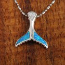 SOP1038 2 Opal CZ Whaletail Pendant(Chain Sold Separately)