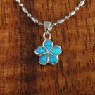 SOP1009 10mm Opal Plumeria Pendant (Chain Sold Separately)