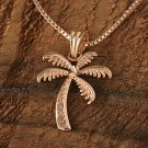 GP3109 14K Solid Pink Gold Palm Tree Pendant(S)(Chain Sold Separately)