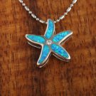 SOP1066 5 Opal CZ Starfish Pendant(Chain Sold Separately)
