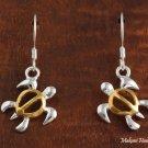 SE47905 Honu Hook Earring Two Tone