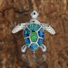 SOP1015 7 Opal Turtle Pendant(L) (Chain Sold Separately)