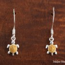 SE22605 Turtle Hook Earrings(S) Two Tone