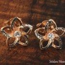Hawaiian Jewelry Plumeria Earrings 14k Pink Gold GE2141