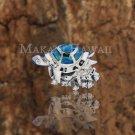 SOP1033 4 Opal CZ Turtle Pendant