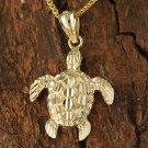 GP3165 Yellow Gold Honu(Hawaiian Turtle) Medium size Pendant