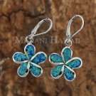 SOE111 18mm Opal Plumeria Lever Back Earrings