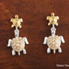 SE26505 S + L Turtle Earrings Two Tone
