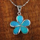 SOP1002 25mm Opal Plumeria Pendant (Chain Sold Separately)