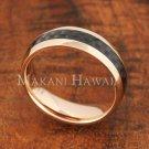 6mm Carbon Fiber Stainless Steel Wedding Ring Oval PG SLR6014