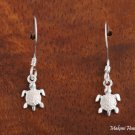 Hawaiian Jewelry Sterling Silver Turtle Hook Earrings(S) SE22601