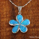 SOP1001 28mm Opal Plumeria Pendant (Chain Sold Separately)
