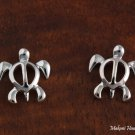 SE48021 Solid Sterling Silve Hawaiian Turtle Honu Post Earring (S)