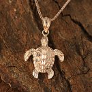GP3159 Pink Gold Turtle Pendant(S) (Chain Sold Separately)