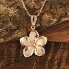 GP3148 Pink Gold Plumeria Pendant 16mm(Chain Sold Separately)