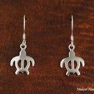 SE50801 Sea Turtle Hawaiian Honu Solid Sterling Silver Hook Earring