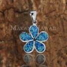 SOP1003 22mm Opal Plumeria Pendant (Chain Sold Separately)