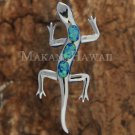 SOP1090 3 Opal Gecko Pendant (Chain Sold Separately)