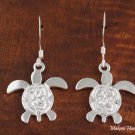 SE41701 Dangle Honu Scroll Earrings