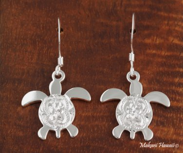 SE41701 Dangle Honu Scroll Earrings