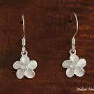SE12101 10mm Plumeria CZ Hook Earrings White