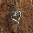SOP1054 5 Opal CZ Heart Pendant (Chain Sold Separately)