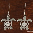 SE26201 Honu + Hibiscus Hook Earrings