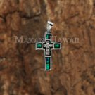 SOP1100 5 Opal CZ Cross Pendant(M)(Chain Sold Separately)