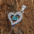 SOP2112 1 Opal Heart Scroll Pendant