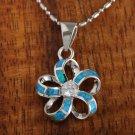 SOP1020 10 Opal CZ Plumeria Pendant(Chain Sold Separately)