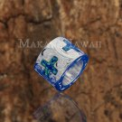 SOP2103 Scroll Barrel 4 Opal Cross Pendant (Chain Sold Separately)