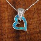 SOP2106 7 Opal Scroll Heart Pendant
