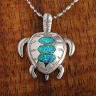 SOP1027 3 Opal Turtle Pendant(L)
