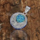 SOP2110 Round Opal Scroll Pendant (Chain Sold Separately)