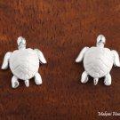 SE22801 Turtle Earrings (L) White