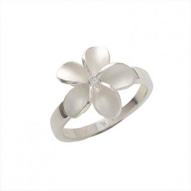 Sterling Silver  Single Plumeria Ring