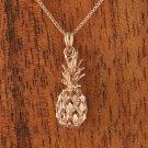 14k Pink gold Pineapple Pendant