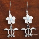 12mm Plumeria-Honu Hook Earring