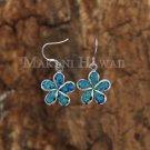 Hawaiian Plumeria Opal Hook Earring